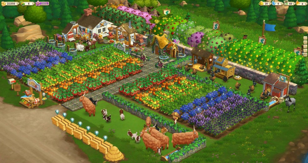 Farmville game display